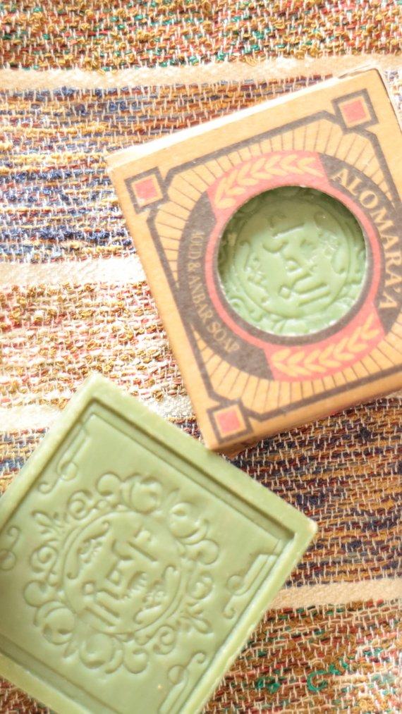 Parfümierte grüne Aleppo Seife Alomoora