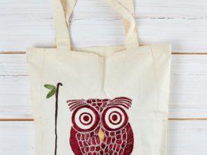 Aghabani Einkaufsbeutel Happy Owl - unser Bestseller aus Syrien!