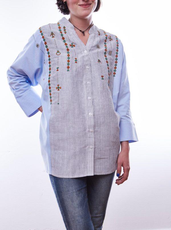 Bluse Denim meets Cotton aus Kairo Ägypten